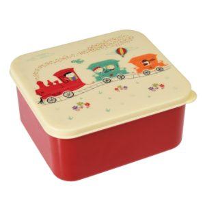 Obedový box Rex London Party Train - zdravy desiatovy box - nezavadny desiatovy box do školy - desiatový box - plastové krabičky na potraviny - desiatový box pre deti - bento box - desiatove boxy na jedlo - krabičky na jedlo - obaly na jedlo - čo na desiatu do školy - desiata pre školáka - čo deťom na desiatu do školy
