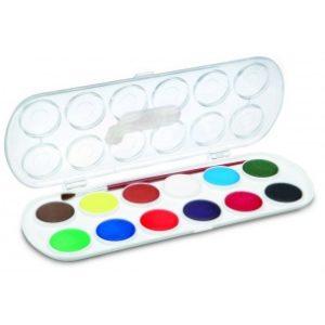 JOVI Vodové farby v sade 12ks so štetcom - 96 g - vodové farby - anilinove farby - vodovky - vodove farby anilinove - vodove farby pre deti - anilinove vodove farby