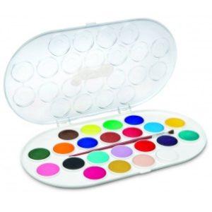 JOVI Vodové farby sada 22ks so štetcom - 176 g - vodové farby - anilinove farby - vodovky - vodove farby anilinove - vodove farby pre deti - anilinove vodove farby