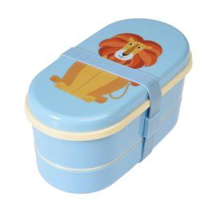 Obedový box Rex London Charlie The Lion - zdravy desiatovy box - nezavadny desiatovy box do školy - desiatový box - plastové krabičky na potraviny - desiatový box pre deti - bento box - desiatove boxy na jedlo - krabičky na jedlo - obaly na jedlo - čo na desiatu do školy - desiata pre školáka - čo deťom na desiatu do školy