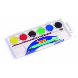 JOVI Vodové farby - sada 6ks so štetcom - 54 g - vodové farby - anilinove farby - vodovky - vodove farby anilinove - vodove farby pre deti - anilinove vodove farby