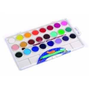 JOVI Vodové farby - sada 24ks so štetcom - 216 g - vodové farby - anilinove farby - vodovky - vodove farby anilinove - vodove farby pre deti - anilinove vodove farby