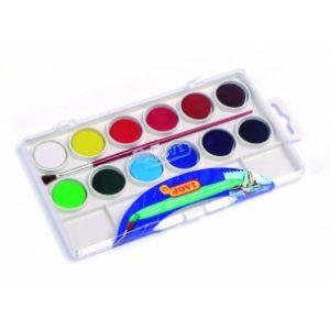 JOVI Vodové farby - sada 12ks so štetcom - 108 g - vodové farby - anilinove farby - vodovky - vodove farby anilinove - vodove farby pre deti - anilinove vodove farby