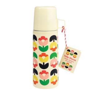 Termoska s hrnčekom Rex London Tulip Bloom - termoska pre deti do školy- detská termoska- kovová termoska- detské termosky- termoska s detským motívom