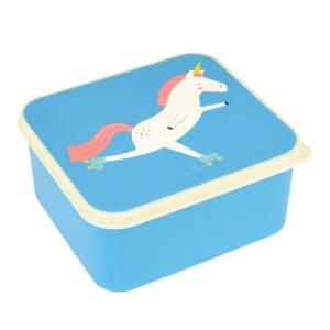 Modrý desiatový box s jednorožcom Rex London Magical Unicorn - zdravy desiatovy box - nezavadny desiatovy box do školy - desiatový box - plastové krabičky na potraviny - desiatový box pre deti - bento box - desiatove boxy na jedlo - krabičky na jedlo - obaly na jedlo - čo na desiatu do školy - desiata pre školáka - čo deťom na desiatu do školy