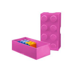 Ružový desiatový box LEGO® - zdravy desiatovy box - nezavadny desiatovy box do školy - desiatový box - plastové krabičky na potraviny - desiatový box pre deti - bento box - desiatove boxy na jedlo - krabičky na jedlo - obaly na jedlo - čo na desiatu do školy - desiata pre školáka - čo deťom na desiatu do školy