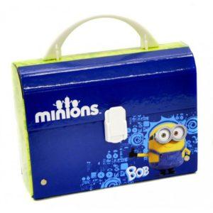 Kufrík na výtvarné potreby - Kufrík do školy - KARTON PP - Kufrík 20 cm Mimoni malý