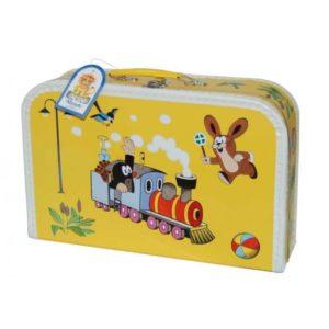 Kufrík na výtvarné potreby - Kufrík do školy - KAZETO - Kufrík 35cm Krtko a mašinka