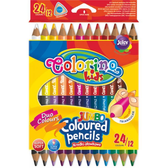 389125cfa PATIO - Colorino pastelky Jumbo dvojfarebné TRIO 24 farieb - farbičky -  pastelky - akvarelové pastelky - maped pastelky - koh i ...