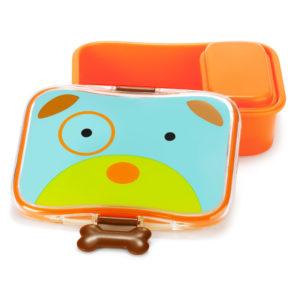 SKIP HOP - Zoo Krabička na desiatu - 4 - dielna - Psík - desiatová krabička pre deti - desiatové boxy - zdravá desiata - čo deťom na desiatu