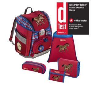 Step by Step 5dielna súprava s certifikátom AGR Koníkovia - školské tašky pre prvákov sety -  školské aktovky pre prvákov sety -  školská taška pre prváka set -  školské potreby pre prváka -  aktovky pre prvákov -  školské batohy pre prvákov