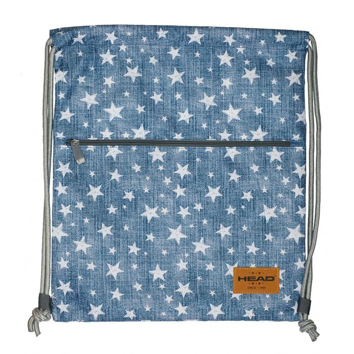 23499da02 ASTRA - Vak na chrbát Head HD-140, biele hviezdy - vrecko na ...