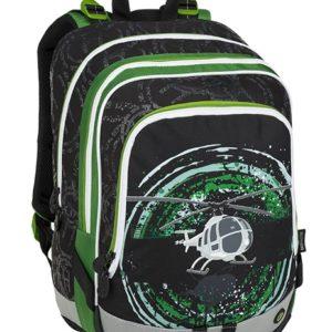 Bagmaster Alfa 9 D Black/green/gray - školské tašky pre prvákov -  školské aktovky pre prvákov -  školská taška pre prváka -  školské potreby pre prváka -  aktovky pre prvákov -  školské batohy pre prvákov