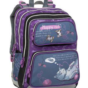 Bagmaster Galaxy 9 A Gray/violet - školské tašky pre prvákov -  školské aktovky pre prvákov -  školská taška pre prváka -  školské potreby pre prváka -  aktovky pre prvákov -  školské batohy pre prvákov