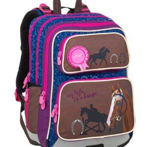 Bagmaster Galaxy 9 B Blue/brown/pink - školské tašky pre prvákov -  školské aktovky pre prvákov -  školská taška pre prváka -  školské potreby pre prváka -  aktovky pre prvákov -  školské batohy pre prvákov