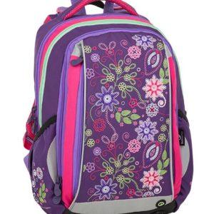 d2ff8e5a4c Školská taška Bagmaster Mercury 9 A Violet pink green