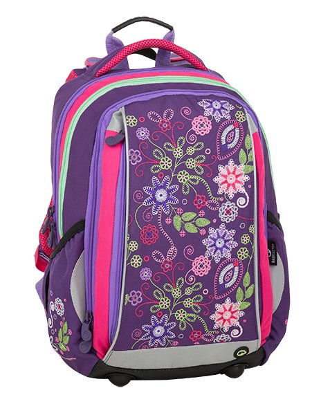 b0c5ce6d8b Bagmaster Mercury 9 A Violet pink green - školské tašky pre prvákov -  školské