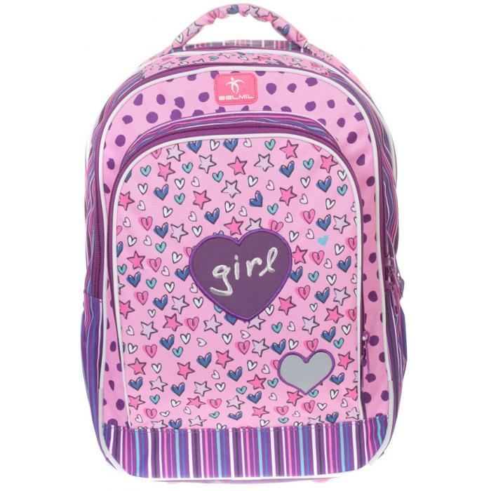 0c35aef317 BELMIL - BelMil školský batoh 338-35 Trendy Girl - školská aktovka pre prvý  stupeň - školská taška pre ...
