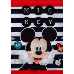 BENIAMIN - Vrecko na prezúvky Mickey Mouse -  vrecko na prezúvky - študentský vak so šnúrkami - vak so šnúrkami na chrbát - vrecka na prezuvky - vrecka na chrbat - gymsack - vaky na chrbat - vrecúška na chrbát