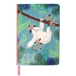 Disaster linajkový zošit Over The Moon Sloth Notebook A5 - zápisník - diár - zápisníček - zošitok - zápisník santoro - zápisník aneke - darček k meninám - učiteľský zápisník - denník