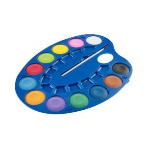 EASY - Vodové farby - maliarska paleta 12 farieb