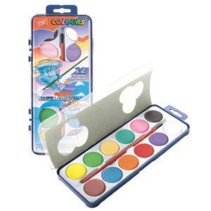 EASY - WaterColours 12 Ks - vodové farby - vodové farby - anilinove farby - vodovky - vodove farby anilinove - vodove farby pre deti - anilinove vodove farby