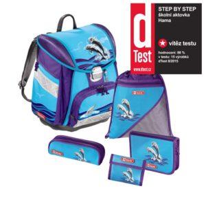 Step by Step – 5dielna súprava s certifikátem AGR Delfíni - školské tašky pre prvákov sety -  školské aktovky pre prvákov sety -  školská taška pre prváka set -  školské potreby pre prváka -  aktovky pre prvákov -  školské batohy pre prvákov