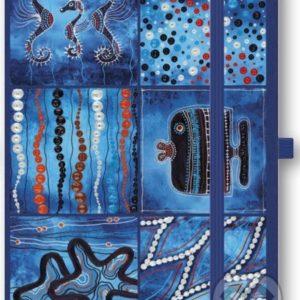 Zápisník Oceán - zápisník - diár - zápisníček - zošitok - zápisník santoro - zápisník aneke - darček k meninám - učiteľský zápisník - denník
