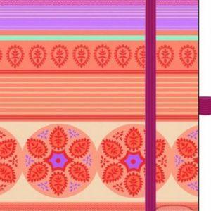 Zápisník s oranžovým vzorom - zápisník - diár - zápisníček - zošitok - zápisník santoro - zápisník aneke - darček k meninám - učiteľský zápisník - denník