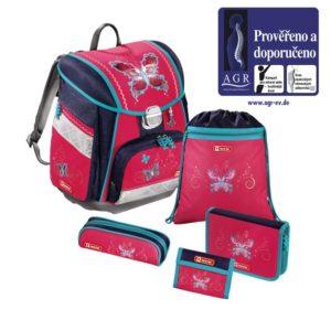 Step by Step – 5dielna súprava s certifikátom AGR Motýľ - školské tašky pre prvákov sety -  školské aktovky pre prvákov sety -  školská taška pre prváka set -  školské potreby pre prváka -  aktovky pre prvákov -  školské batohy pre prvákov