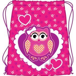 MAJEWSKI - Vrecko na prezúvky Premium - Owl -  vrecko na prezúvky - študentský vak so šnúrkami - vak so šnúrkami na chrbát - vrecka na prezuvky - vrecka na chrbat - gymsack - vaky na chrbat - vrecúška na chrbát
