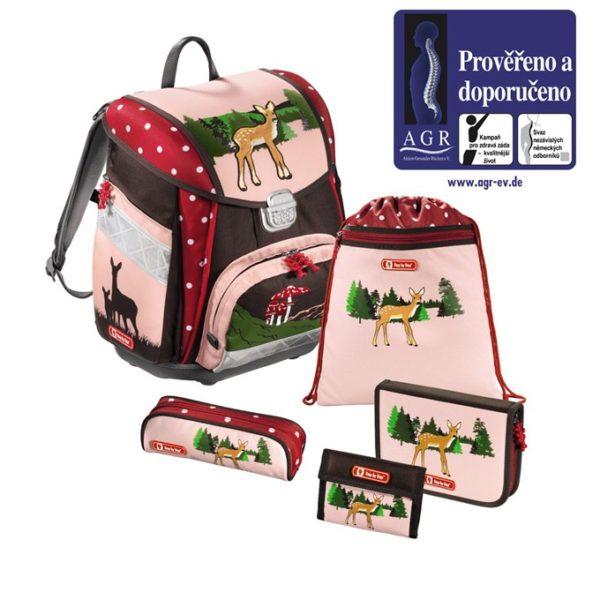 Step by Step – 5dielna súprava s certifikátom AGR Srnček - školské tašky pre prvákov sety -  školské aktovky pre prvákov sety -  školská taška pre prváka set -  školské potreby pre prváka -  aktovky pre prvákov -  školské batohy pre prvákov