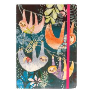 Santoro linajkový zápisník Sloths - zápisník - diár - zápisníček - zošitok - zápisník santoro - zápisník aneke - darček k meninám - učiteľský zápisník - denník