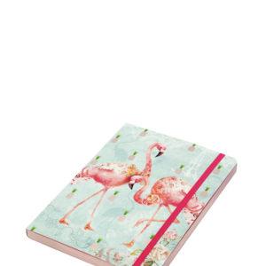 Santoro linkovaný zápisník Flamingos - zápisník - diár - zápisníček - zošitok - zápisník santoro - zápisník aneke - darček k meninám - učiteľský zápisník - denník
