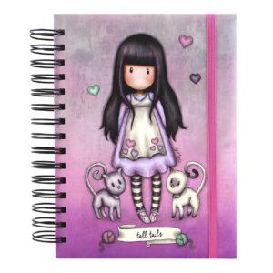 Santoro ružový organizovaný zápisník Gorjuss Tall Tails A5 - zápisník - diár - zápisníček - zošitok - zápisník santoro - zápisník aneke - darček k meninám - učiteľský zápisník - denník