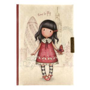 Santoro zápisník so zámočkom Gorjuss Time to Fly - zápisník - diár - zápisníček - zošitok - zápisník santoro - zápisník aneke - darček k meninám - učiteľský zápisník - denník