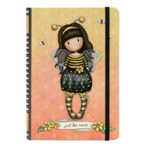 Santoro žltý linajkový zošit Gorjuss Bee-Loved (Just Bee-Cause) A5 - zápisník - diár - zápisníček - zošitok - zápisník santoro - zápisník aneke - darček k meninám - učiteľský zápisník - denník