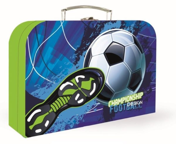 Kufrík na výtvarné potreby - Kufrík do školy - KARTON PP - Kufrík futbal 34cm