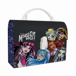 Kufrík na výtvarné potreby - Kufrík do školy - KARTON PP - Kufrík Lamino-Mini Monster High