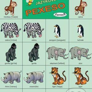 Jazykové pexeso: Animals II. / Zvieratá II. -  jazykové pexeso -  pexeso angličtina -  pexeso nemčina -  pexeso na učenie cudzích jazykov -  ako deti učiť cudzie jazyky -  ako deti učiť slovíčka v cudzích jazykoch