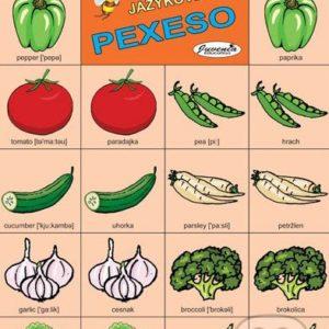 Jazykové pexeso: Vegetables / Zelenina -  jazykové pexeso -  pexeso angličtina -  pexeso nemčina -  pexeso na učenie cudzích jazykov -  ako deti učiť cudzie jazyky -  ako deti učiť slovíčka v cudzích jazykoch