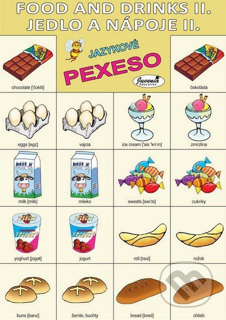 Jazykové pexeso: Food and Drinks II. / Jedlo a nápoje II. -  jazykové pexeso -  pexeso angličtina -  pexeso nemčina -  pexeso na učenie cudzích jazykov -  ako deti učiť cudzie jazyky -  ako deti učiť slovíčka v cudzích jazykoch