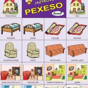 Jazykové pexeso: House / Dom -  jazykové pexeso -  pexeso angličtina -  pexeso nemčina -  pexeso na učenie cudzích jazykov -  ako deti učiť cudzie jazyky -  ako deti učiť slovíčka v cudzích jazykoch