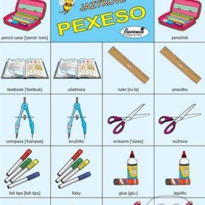 Jazykové pexeso: School / Škola -  jazykové pexeso -  pexeso angličtina -  pexeso nemčina -  pexeso na učenie cudzích jazykov -  ako deti učiť cudzie jazyky -  ako deti učiť slovíčka v cudzích jazykoch