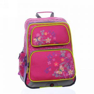 Bagmaster GOTSCHY 0115 B Pink/flowers - školské tašky pre prvákov -  školské aktovky pre prvákov -  školská taška pre prváka -  školské potreby pre prváka -  aktovky pre prvákov -  školské batohy pre prvákov