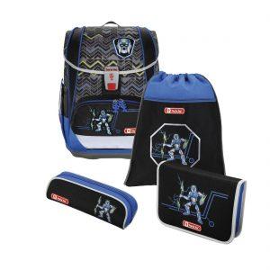 Hama Step by Step – 4-dielna súprava Light 2 s certifikátom AGR Robot - školské tašky pre prvákov sety -  školské aktovky pre prvákov sety -  školská taška pre prváka set -  školské potreby pre prváka -  aktovky pre prvákov -  školské batohy pre prvákov