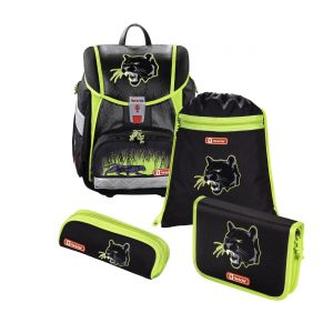 Hama Step by Step – 4-dielna súprava Touch 2 s certifikátom AGR Čierny panter - školské tašky pre prvákov sety -  školské aktovky pre prvákov sety -  školská taška pre prváka set -  školské potreby pre prváka -  aktovky pre prvákov -  školské batohy pre prvákov