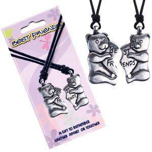 BEST FRIENDS šnúrkové náhrdelníky
