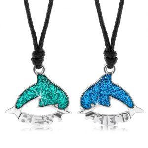 Dva šnúrkové náhrdelníky