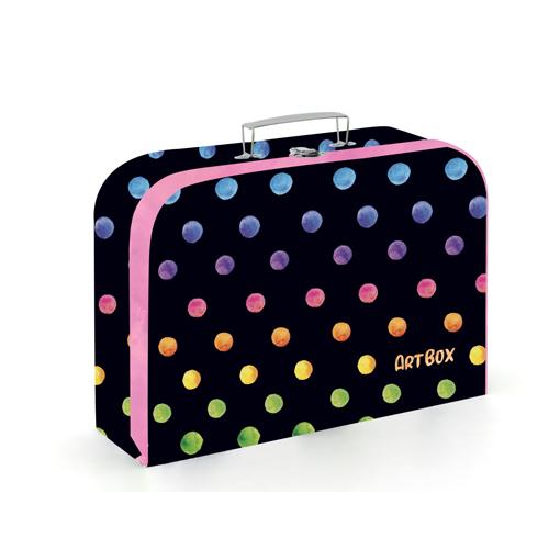 Kufrík na výtvarné potreby - Kufrík do školy - KARTON PP - Kufrík Lamino 34 cm Oxy Dots Colors
